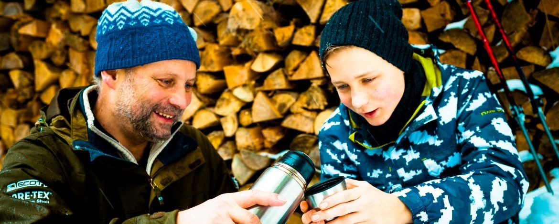 Vater und Sohn Familienurlaub Tegernsee