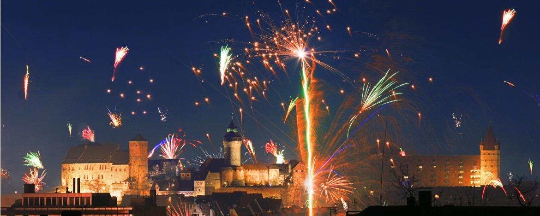 Toller Blick auf das Silvester-Feuerwerk