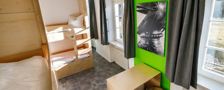 Zimmerbeispiel in der Jugendherberge Burghausen