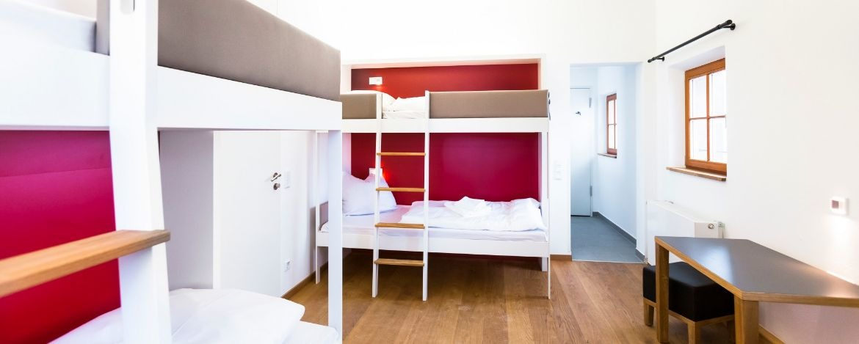 Mehrbettzimmerbeispiel in der Jugendherberge Nürnberg