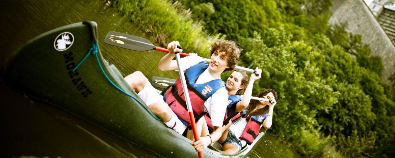 Tour mit dem Kanu auf dem Main