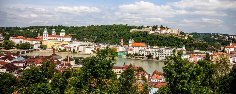 Blick über die Dreiflüssestadt Passau