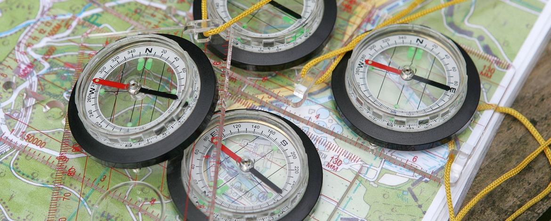 Kompass und Karte