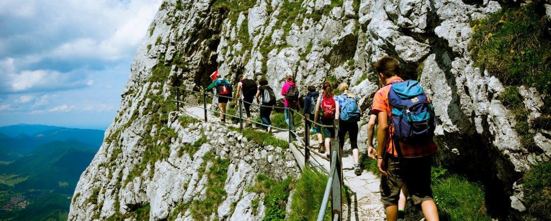 Ausflug mit der Klasse in die Alpen
