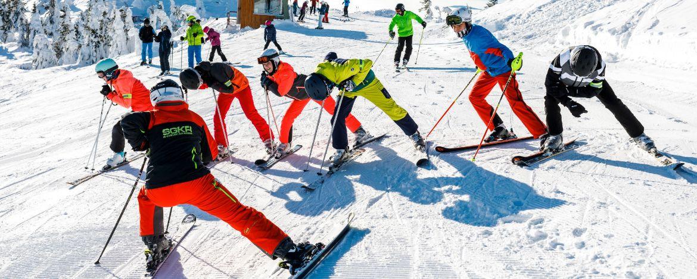 Skikurse während der Klassenfahrt