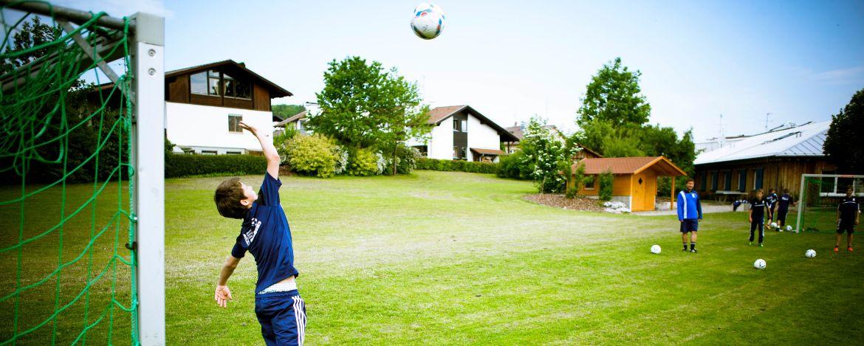Fußballtraining in der Jugendherberge Burg Wernfels