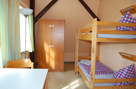 Gemütliche Zimmer der Jugendherberge Husum