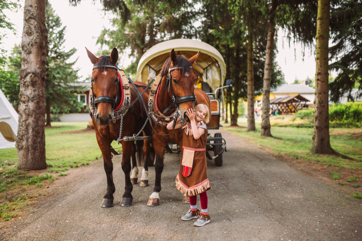 Familienurlaub im Minitou Wildwest-Camp Kretzschau