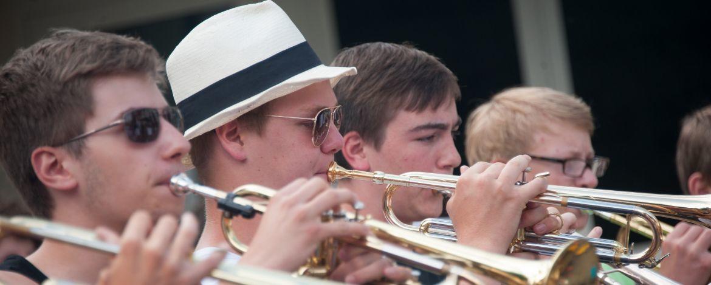 Orchesterprobe in der Jugendherberge
