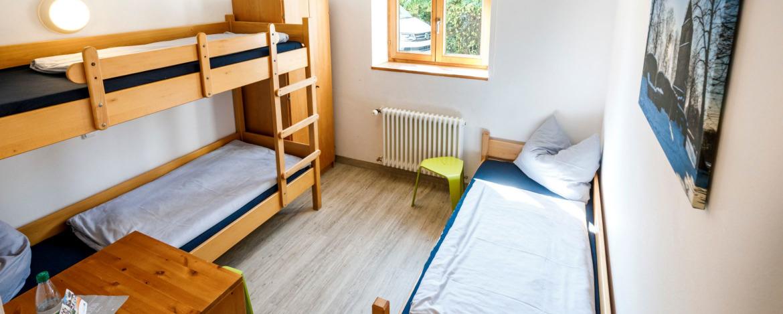 Zimmerbeispiel in der Jugendherberge Wunsiedel