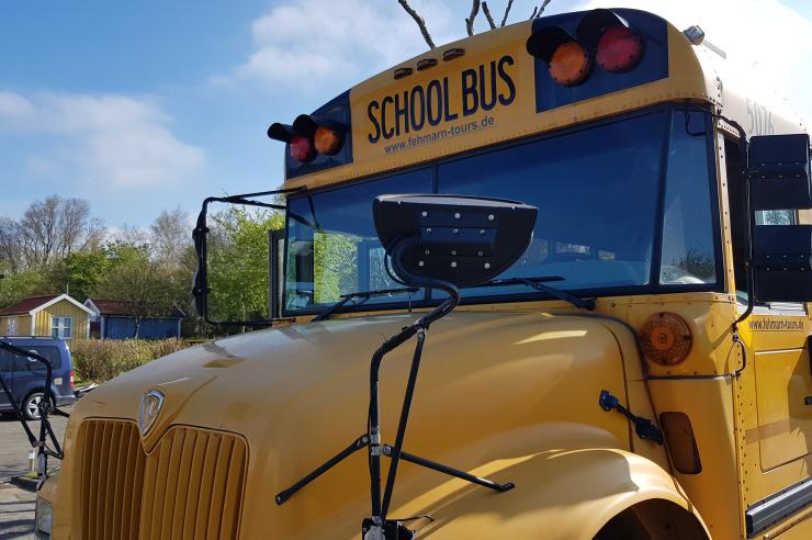US Schoolbus zur Inselrundfahrt