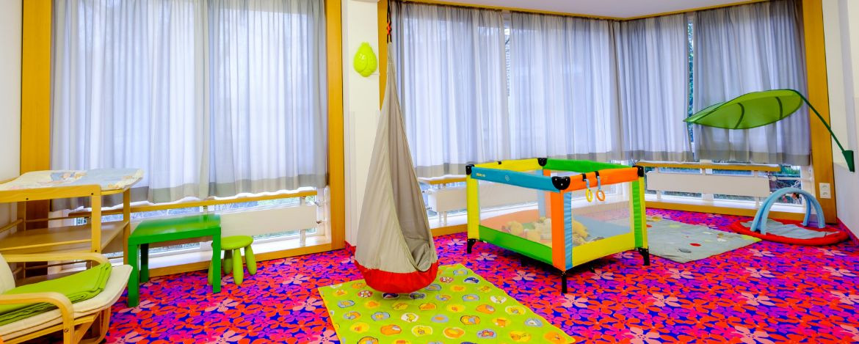 Spielbereich für Kinder in der Jugendherberge