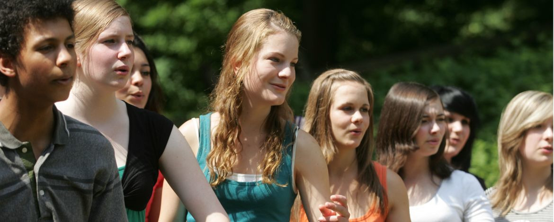 Chorgruppe in der Jugendherberge Waldhäuser