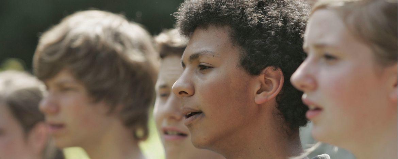 Chorgruppe in der Jugendherberge Bayreuth