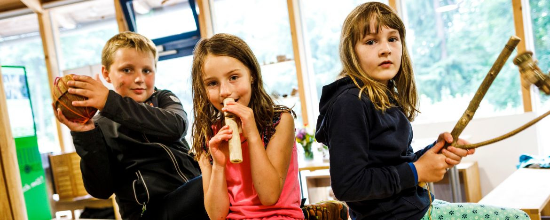 Musikinstrumente bauen im Lernort Natur in Wunsiedel, Nahe der Jugendherberge