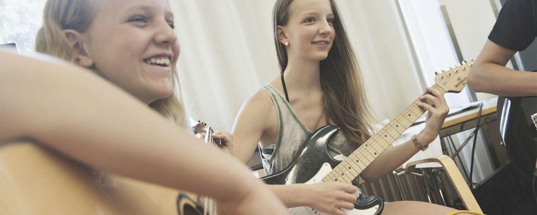 Orchesterprobe in der Jugendherberge Monschau-Hargard
