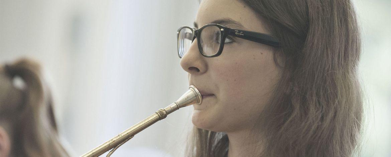 Orchesterprobe in der Nähe der Jugendherberge Lindlar