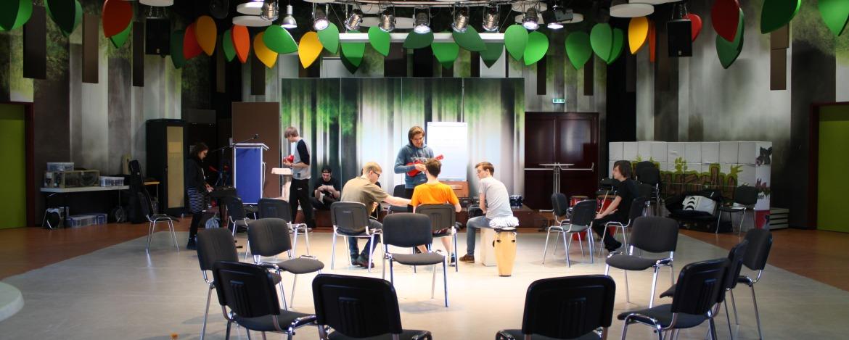 Bandprobe in der Jugendherberge Urwald-Life-Camp Lauterbach