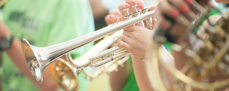 Orchesterprobe in der Jugendherberge Heldrungen