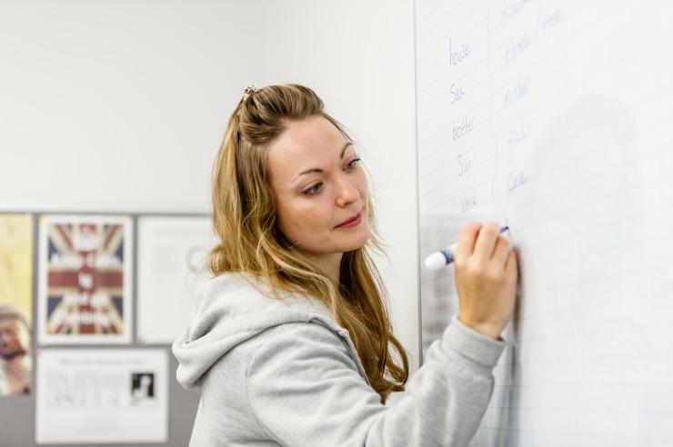 Englischstunde mit Muttersprachlern