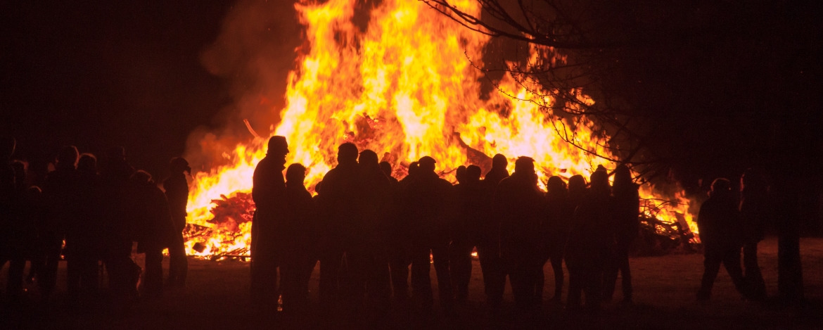 Osterfeuer in Flensburg