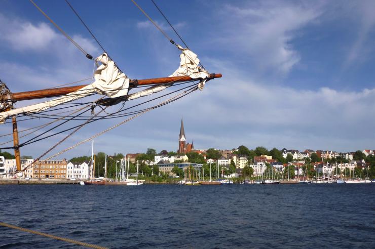 Blick auf die Flensburger Förde