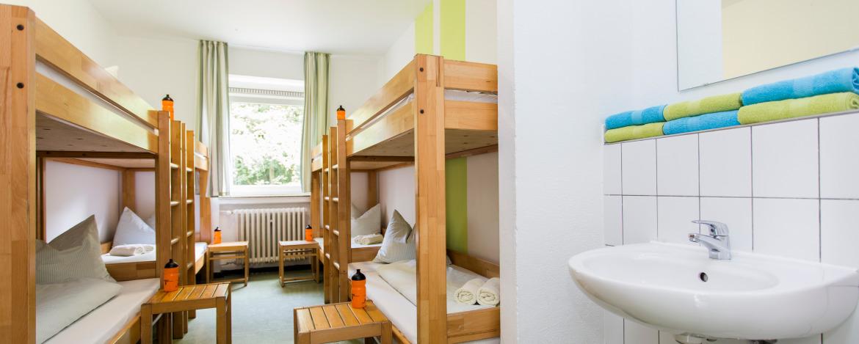 Zimmerbeispiel in der Jugendherberge Wipperfürth