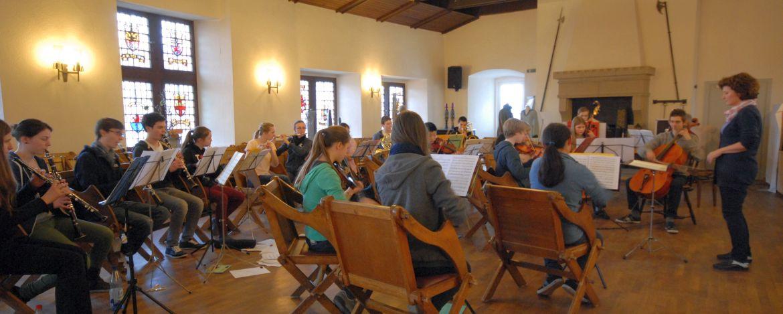 Musikprobe in der Jugendherberge
