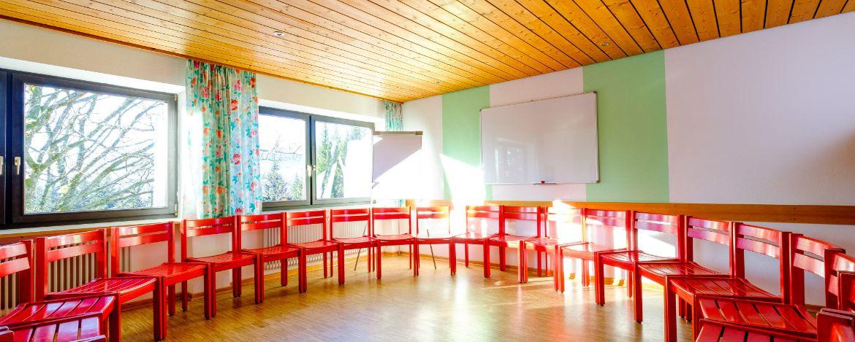 Raum zum Proben in der Jugendherberge Bayerisch Eisenstein