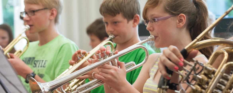 Orchesterprobe in der Jugendherberge Hümpfershausen