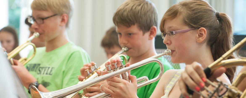 Musikgruppe in der Jugendherberge Hartenstein