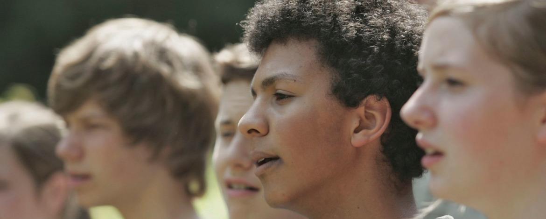 Musikgruppe in der Jugendherberge Hof