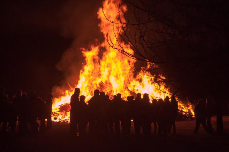 Biikefeuer auf Sylt