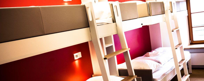 Mehrbettzimmer in der Jugendherberge Nürnberg