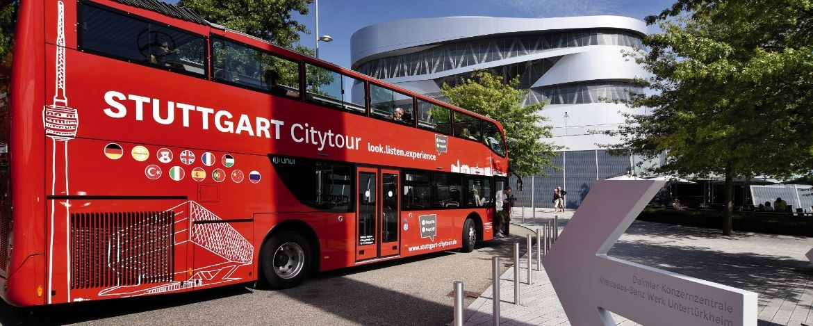Stuttgart Citytour mit dem Doppeldeckerbus
