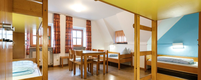 Zimmerbeispiel in der Jugendherberge Regensburg