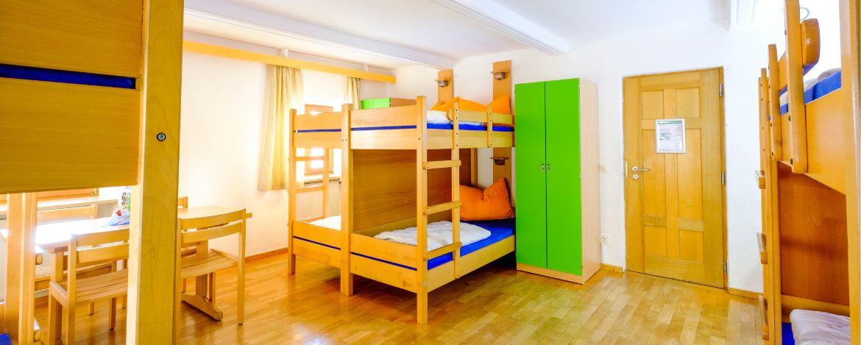 Mehrbettzimmer-Beispiel in der Jugendherberge Waldhäuser