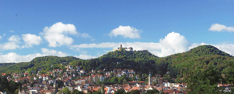 Panorama der Stadt Eisenach
