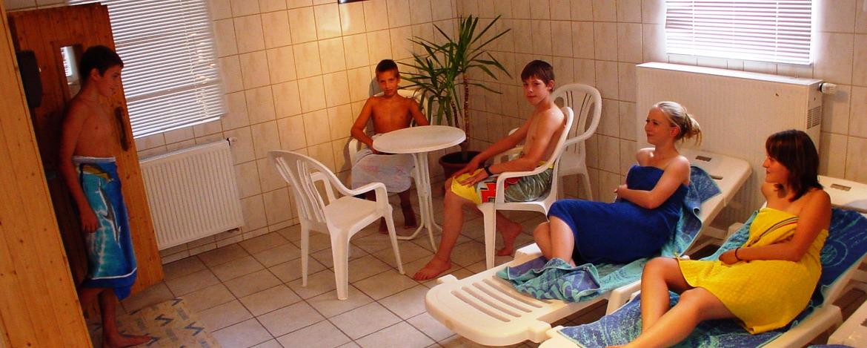 Die hauseigene Sauna der Jugendherberge
