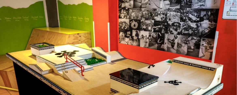 Fingerboard-Anlage in der Jugendherberge Wunsiedel