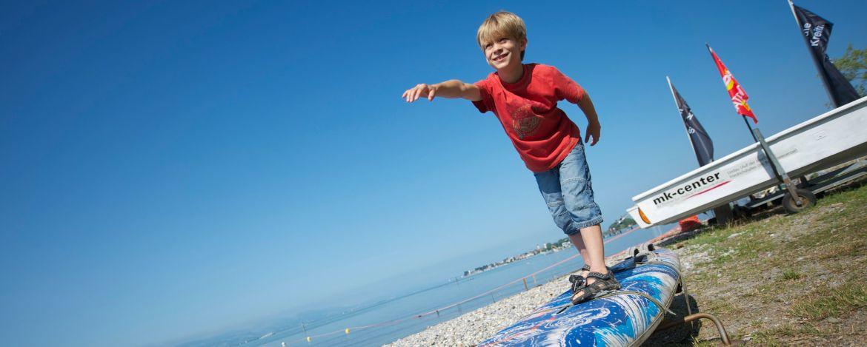Surfen lernen am Walchensee