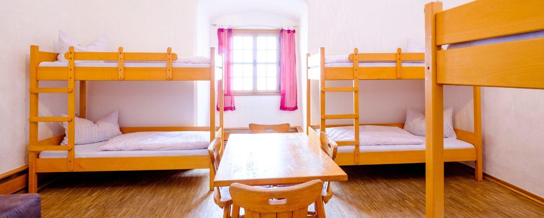 Zimmerbeispiel in der Jugendherberge Saldenburg