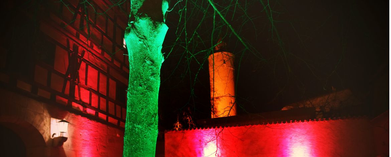 Stimmungsvolle Beleuchtung in der Jugendherberge Dinkelsbühl