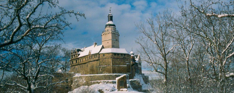 Burg Falkenstein im Winter