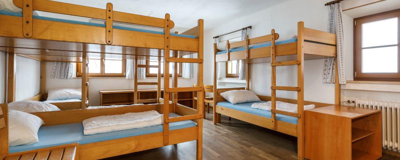 Mehrbettzimmer in der Jugendherberge Bayrischzell-Sudelfeld