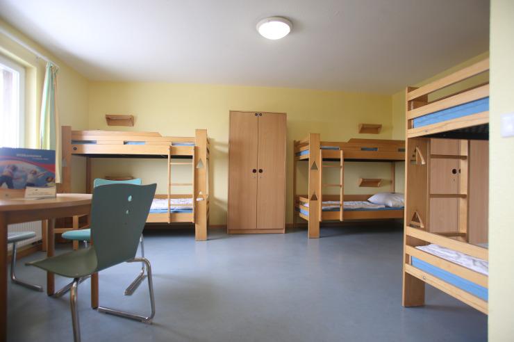 Mehrbettzimmer für Klassenfahrten der Jugendherberge Westerland Sylt