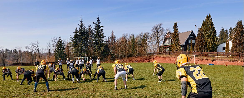 Trainingseinheit auf dem Fußballplatz