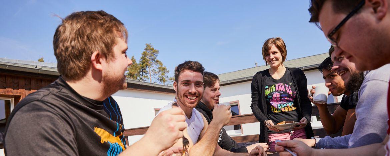 Gruppe in der Jugendherberge Gorenzen