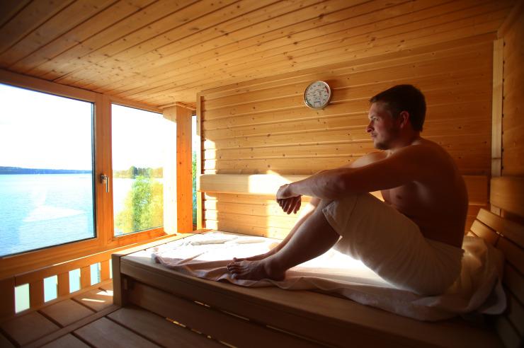 Sauna mit Seeblick der Jugendherberge Ratzeburg
