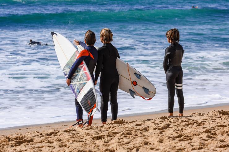 Zelte der Jugendherberge Westerland auf Sylt